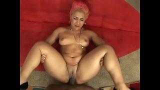 Big booty ebony babe Pinky with natural tits gets nailed hard by black hunk