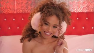Cherry of the Year Cecilia Lion Is A Cute Petite Black Teen With Natural Tits Who Strips and Masturbates For You
