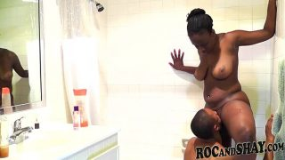 Ebony Amateurs Fuck In Bathroom !!