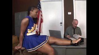 Tara Hot Ebony Cheerleader Fuck